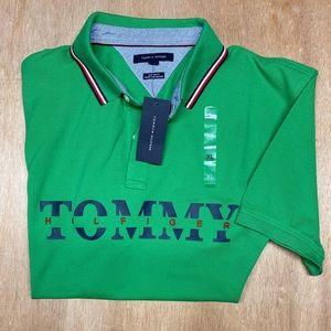 TOMMY HILFIGER  XL Bright Green  Polo